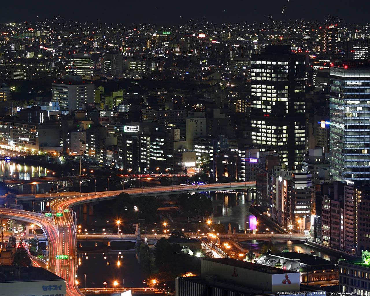 中之島と阪神高速