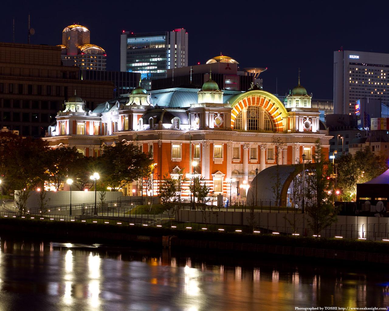 難波橋から見た大阪市中央公会堂2