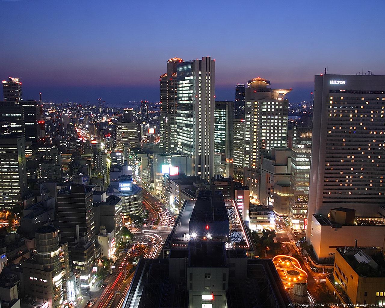 西梅田の夕景