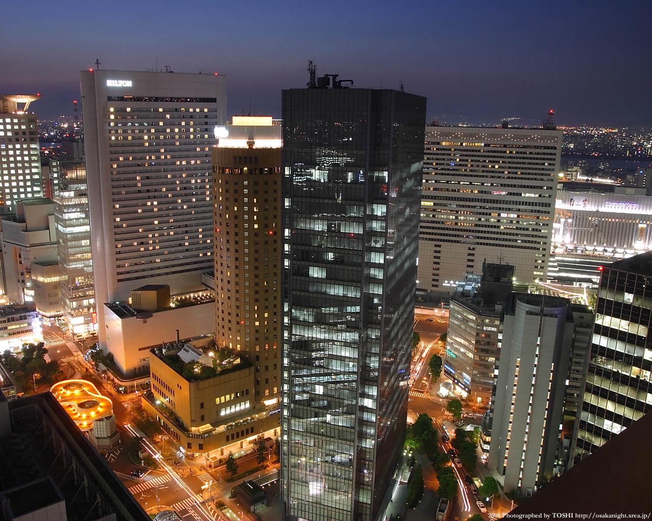 大阪駅方面の夕景