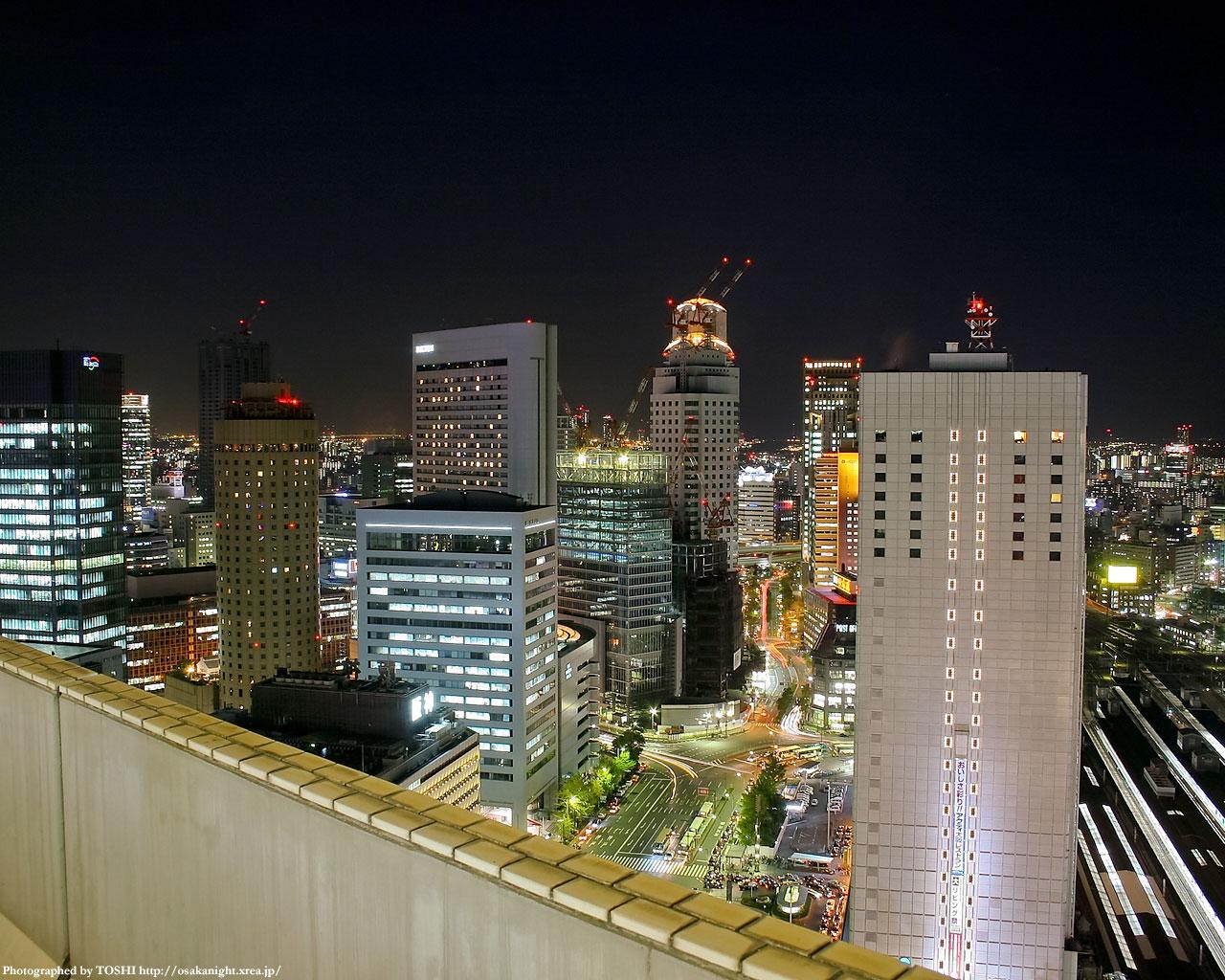 西梅田方面(2003年頃の眺望)