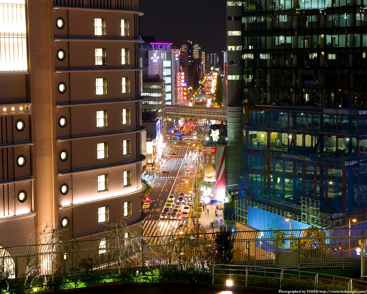 都島通りの夜景