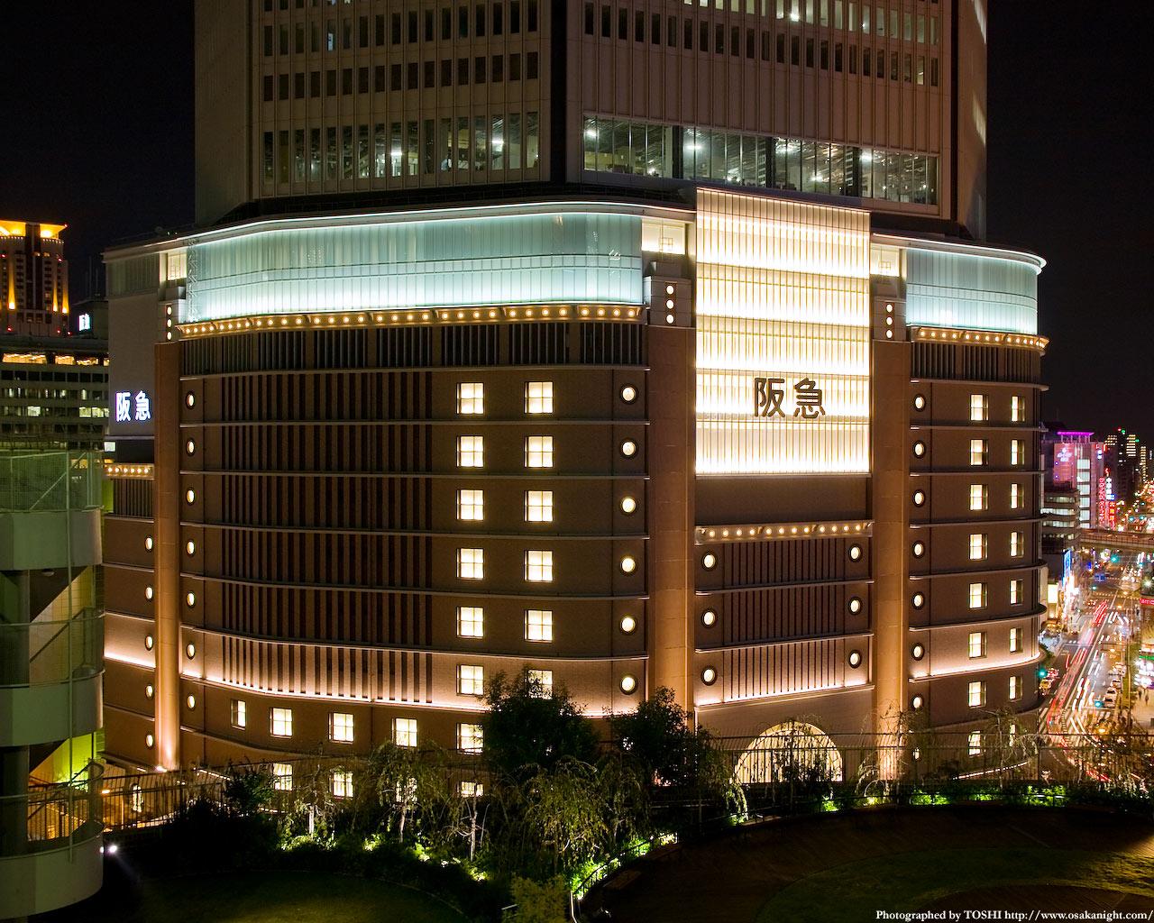 阪急百貨店梅田本店のライトアップ