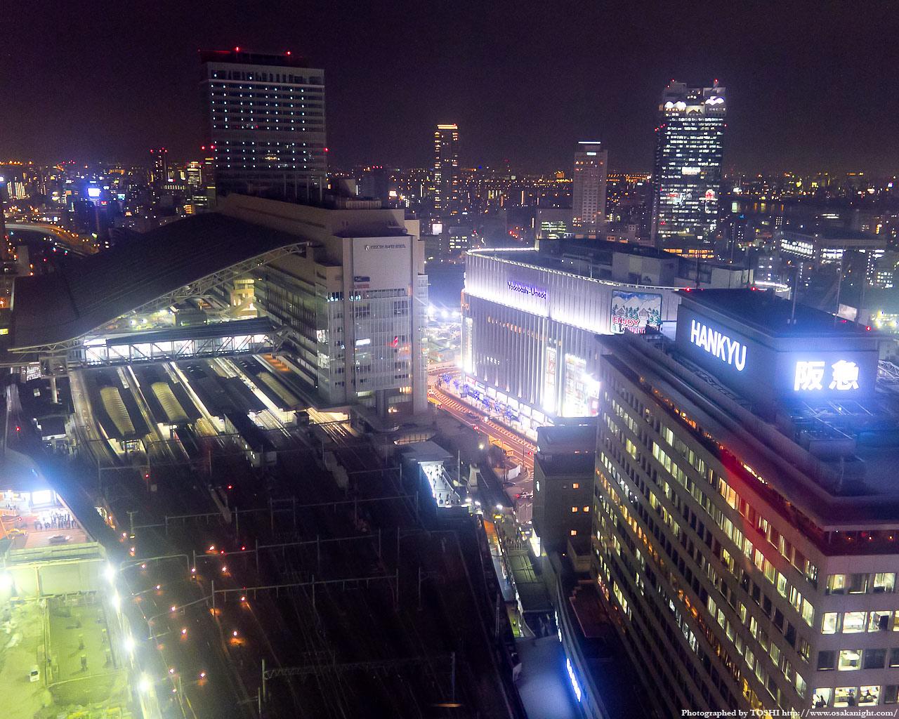 JR大阪駅方面の夜景1