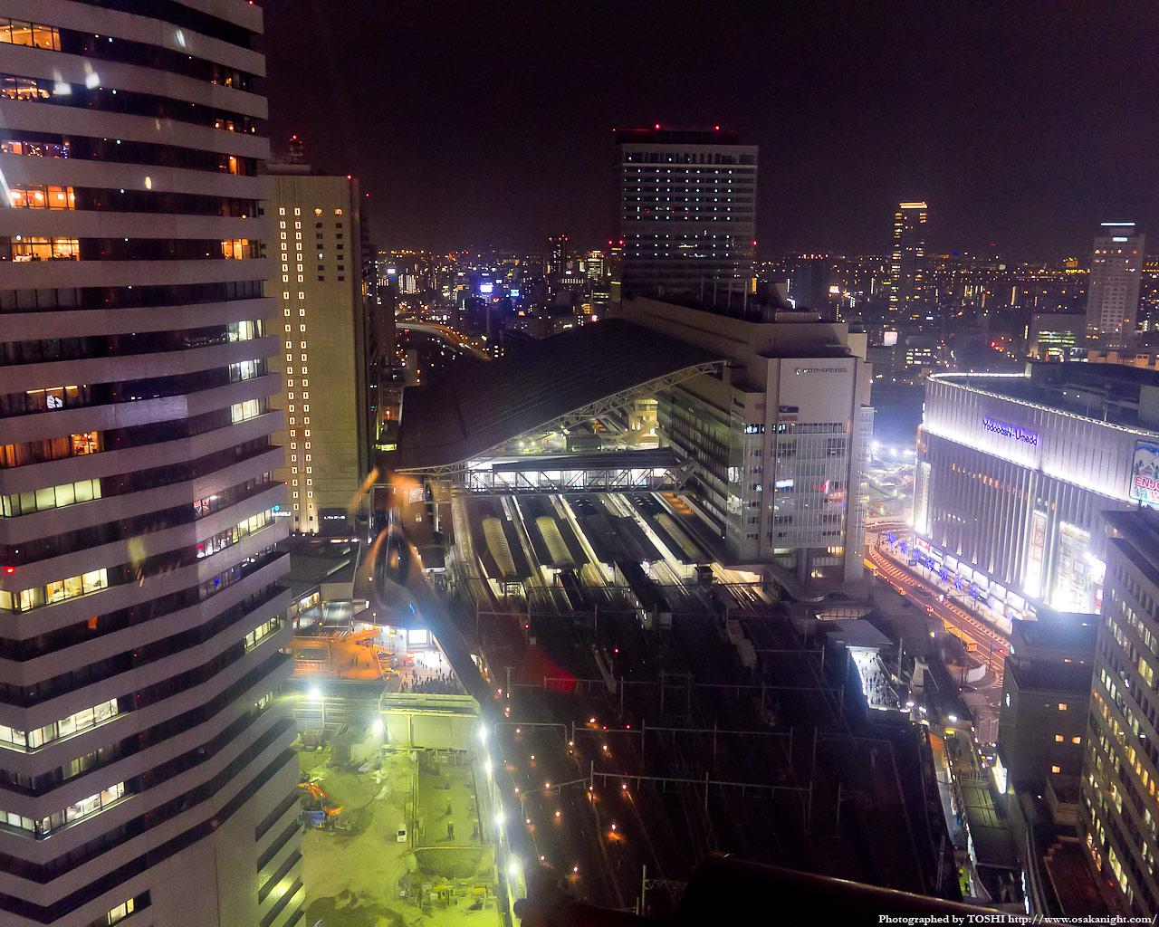 JR大阪駅方面の夜景2