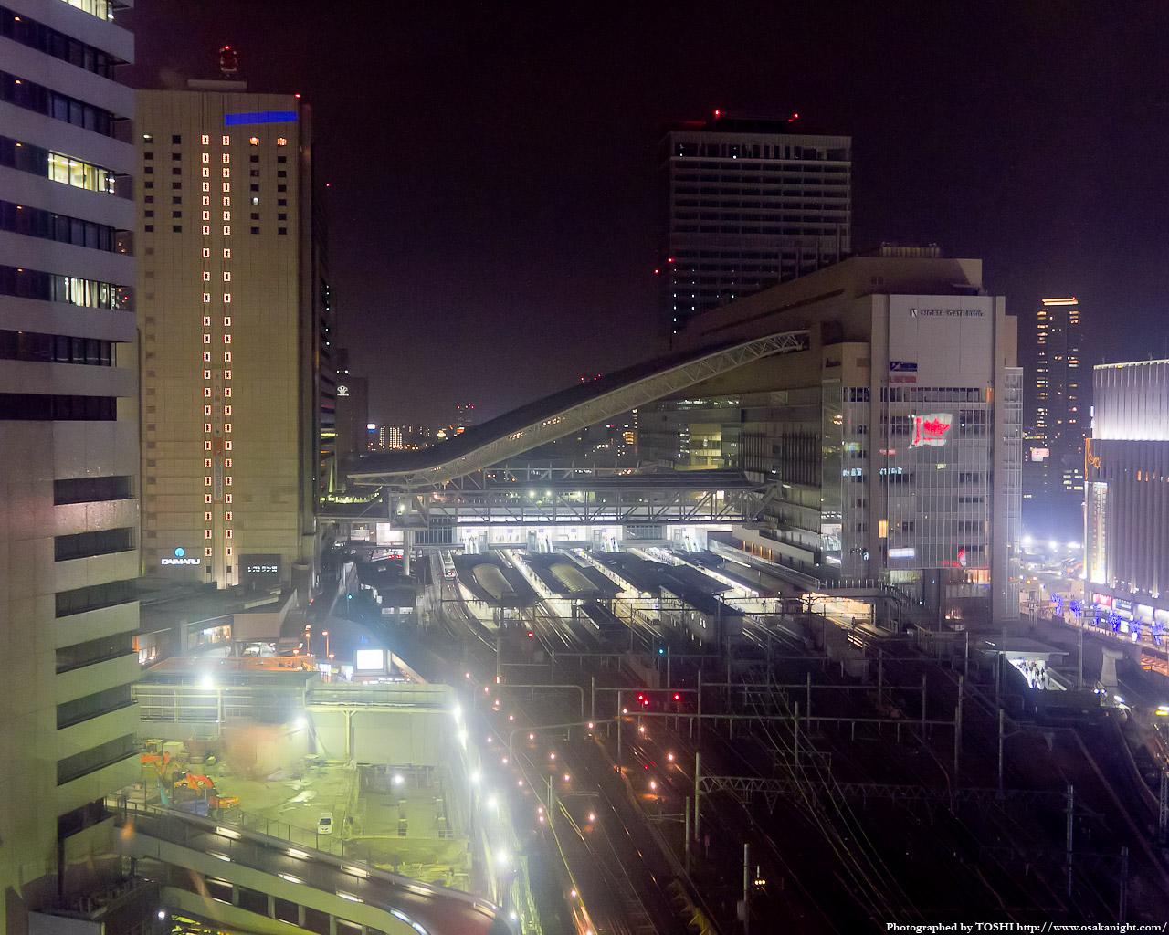大阪ステーションシティの夜景1