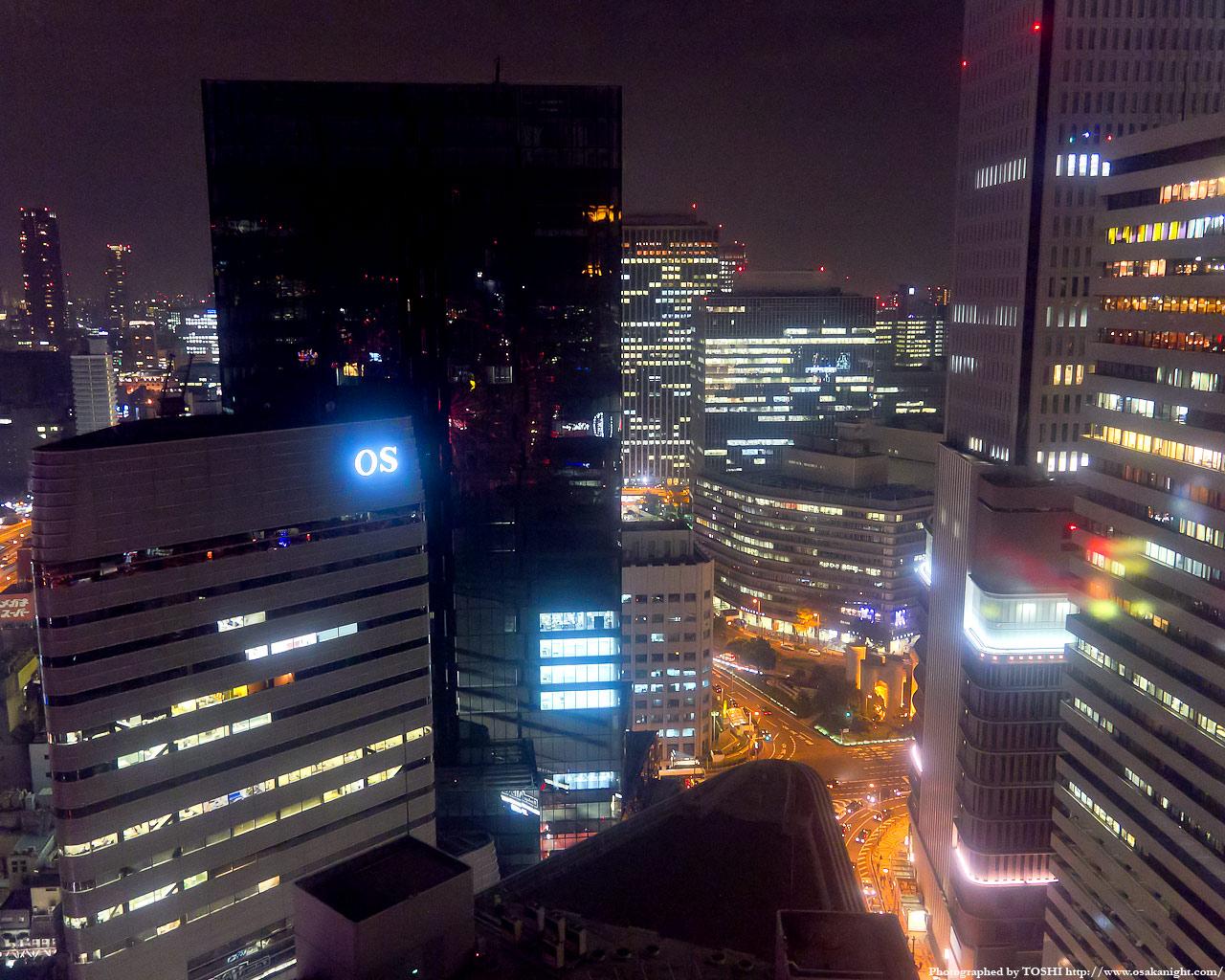 大阪駅前ダイヤモンド地区方面の夜景1