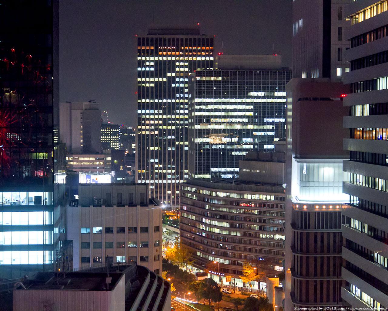 大阪駅前ダイヤモンド地区方面の夜景2
