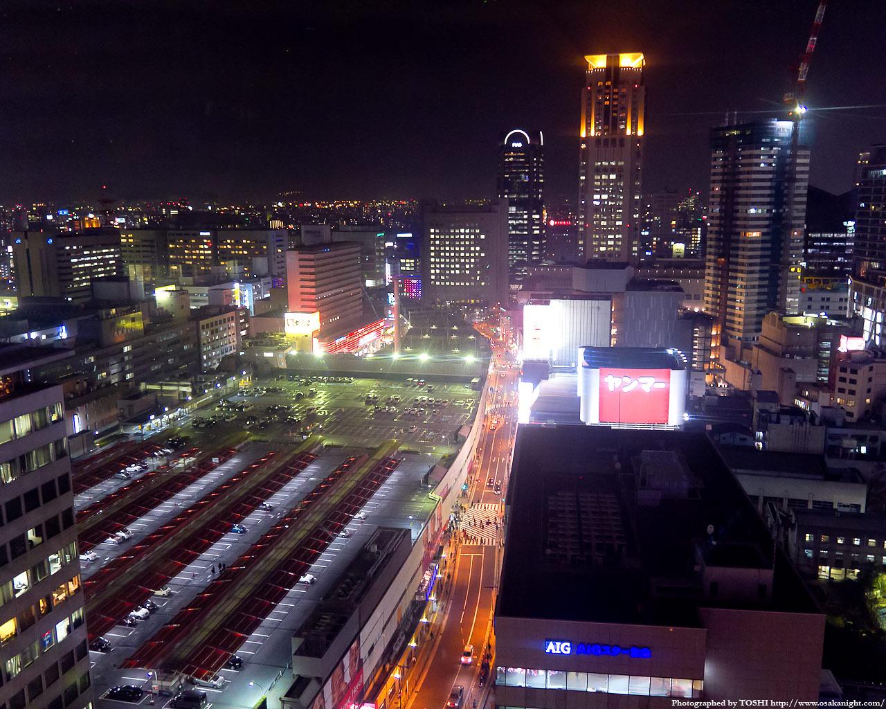 阪急梅田駅の俯瞰夜景