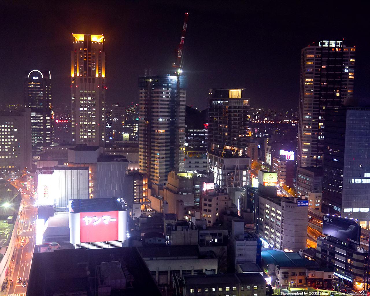 茶屋町周辺の高層ビル群夜景1