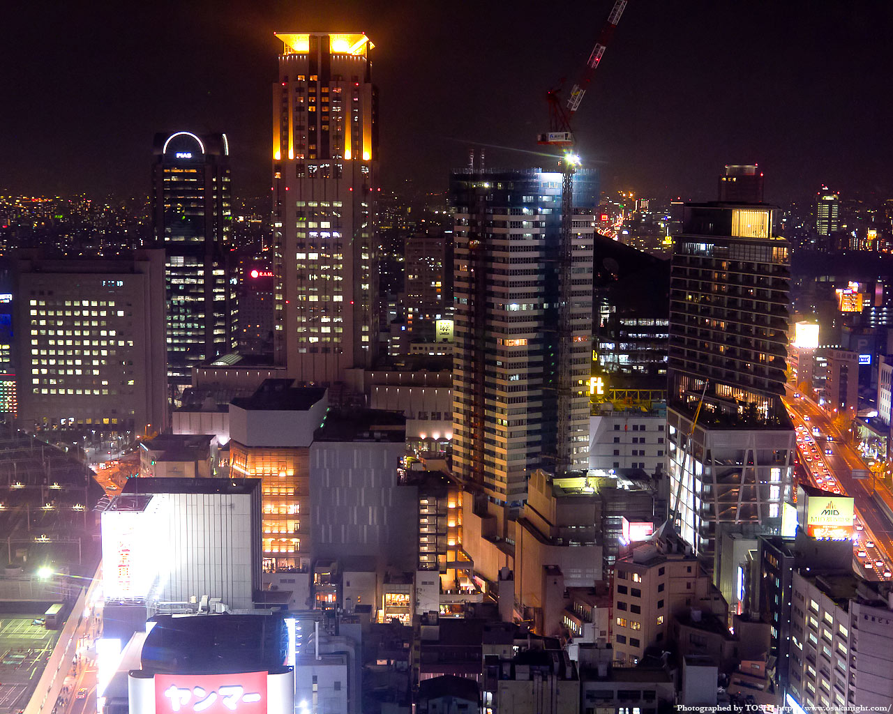 茶屋町周辺の高層ビル群夜景2