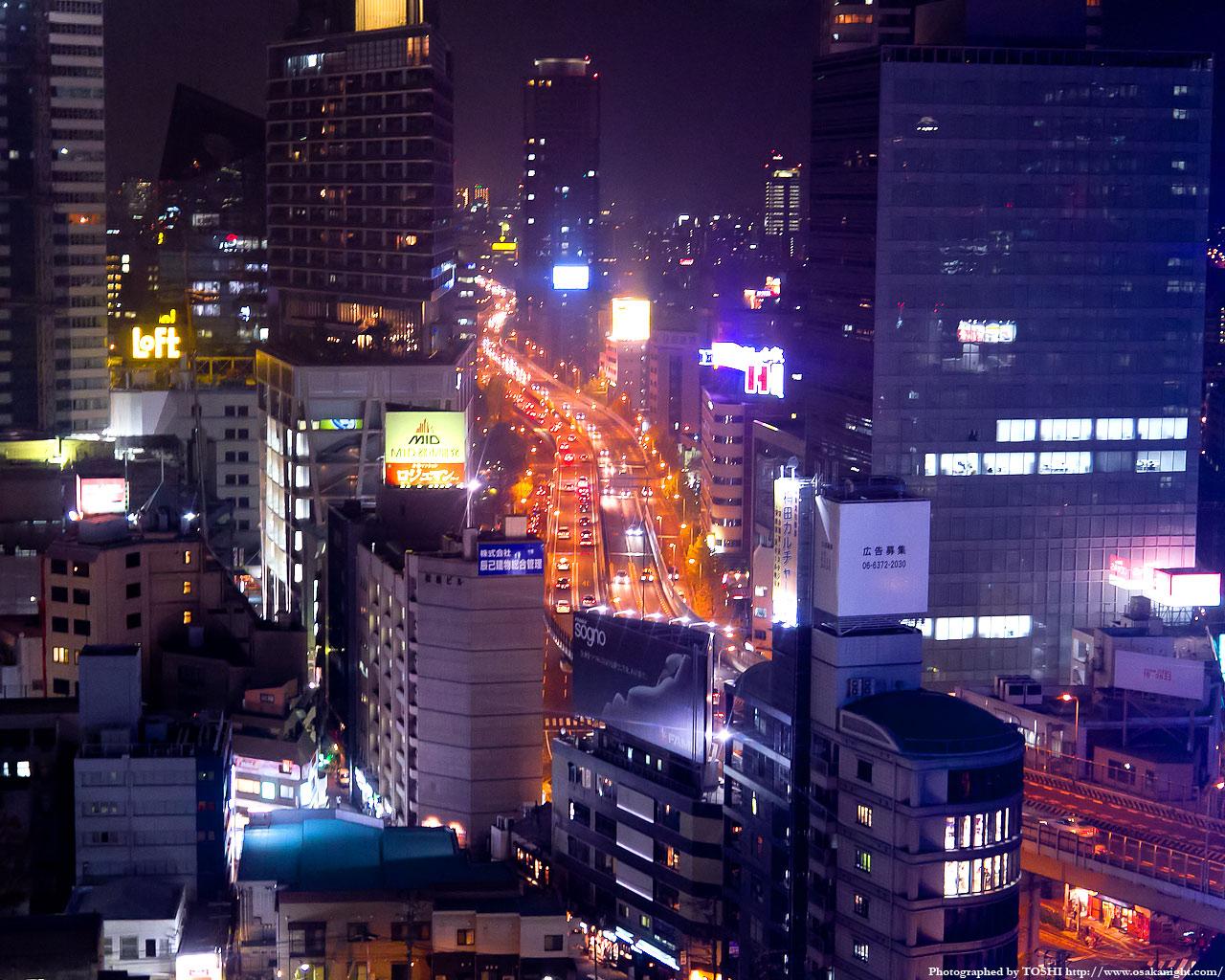 新御堂筋(国道423号)の夜景
