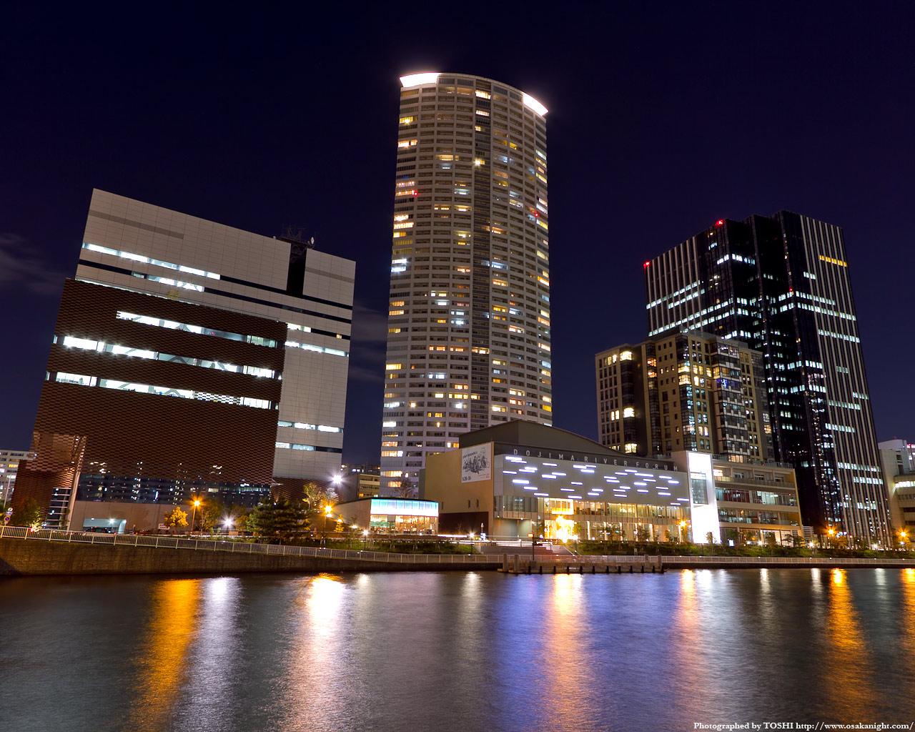 堂島川とほたるまち全景1