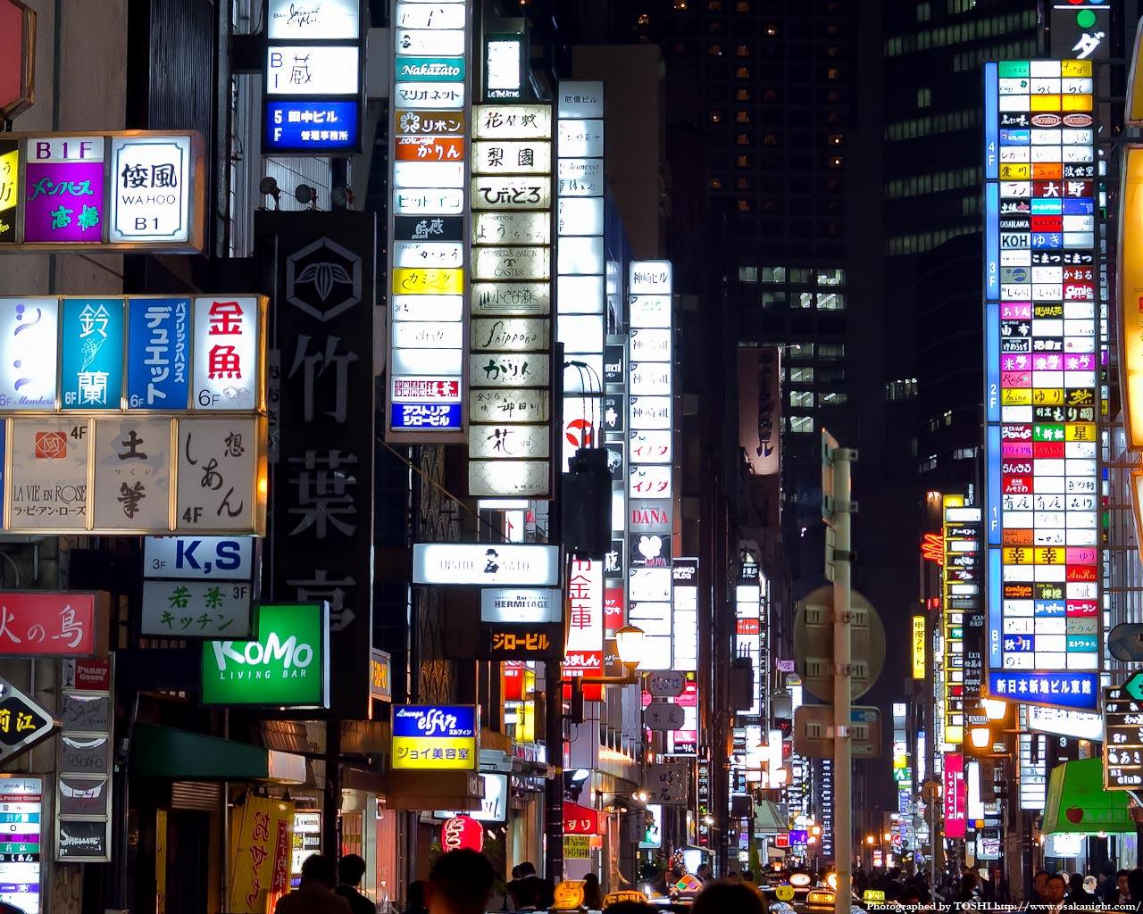 北新地新地本通り夜景7