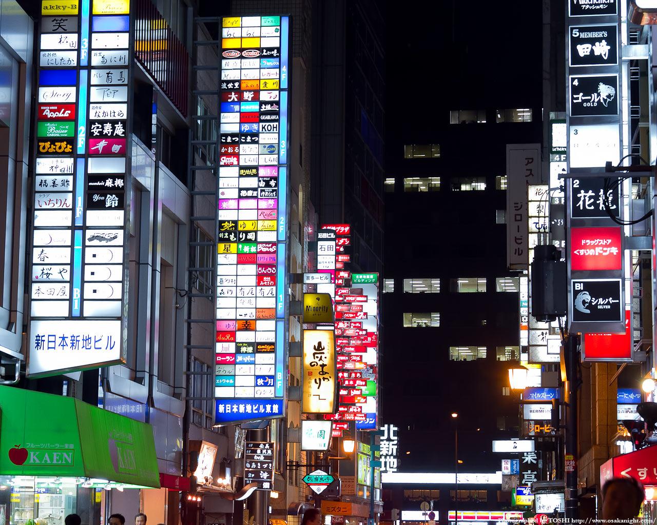 北新地新地本通り夜景10