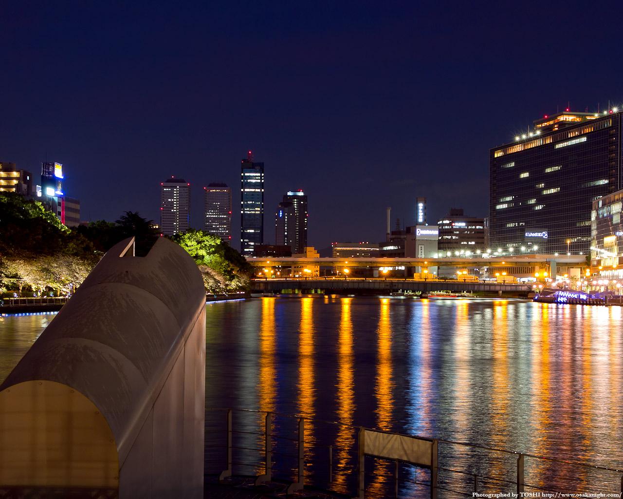剣先公園より天満橋方面の夜景