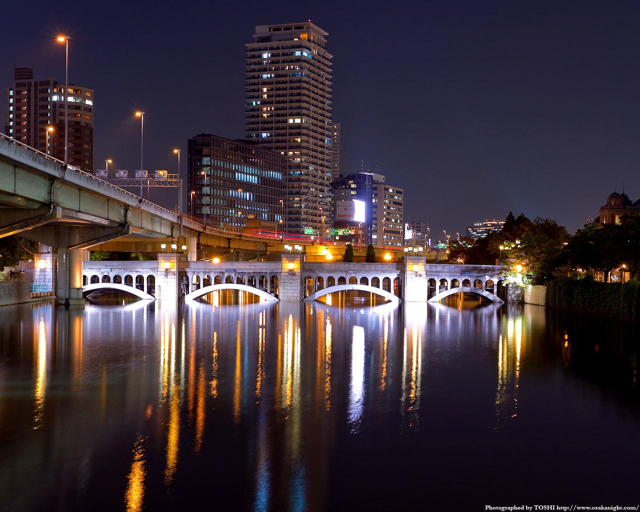 水晶橋のライトアップ夜景4
