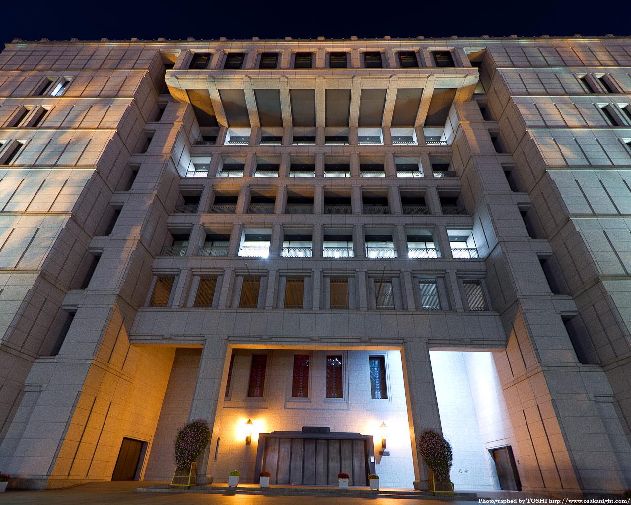 大阪市役所の夜景2