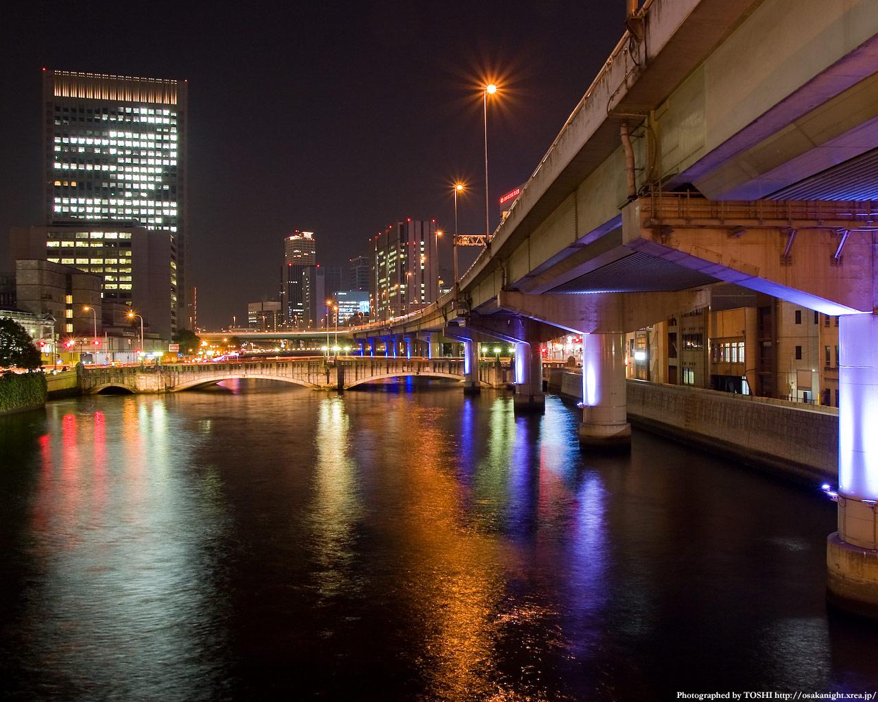 光の回廊と大江橋1