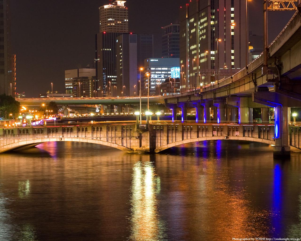 光の回廊と大江橋4