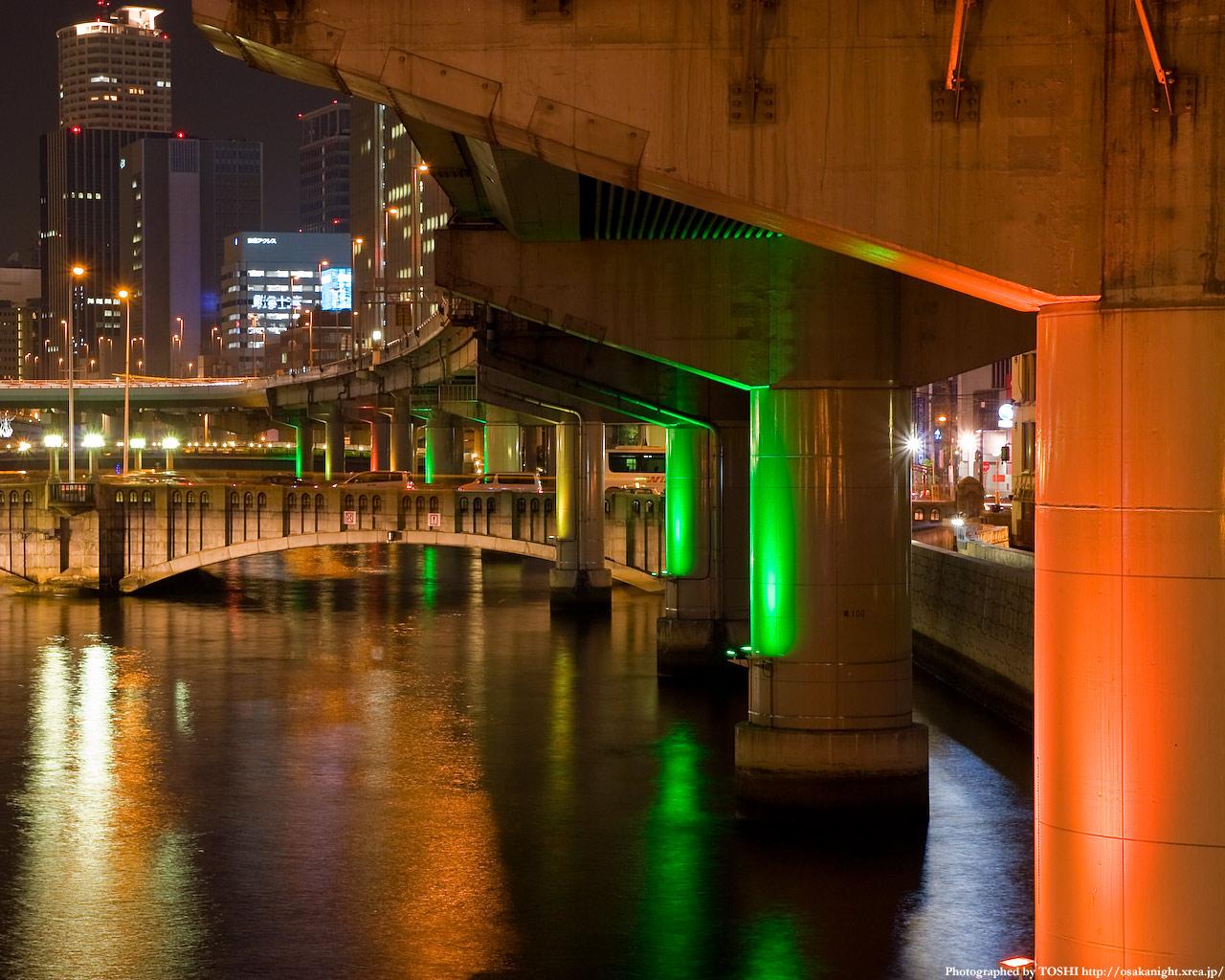 光の回廊と大江橋7