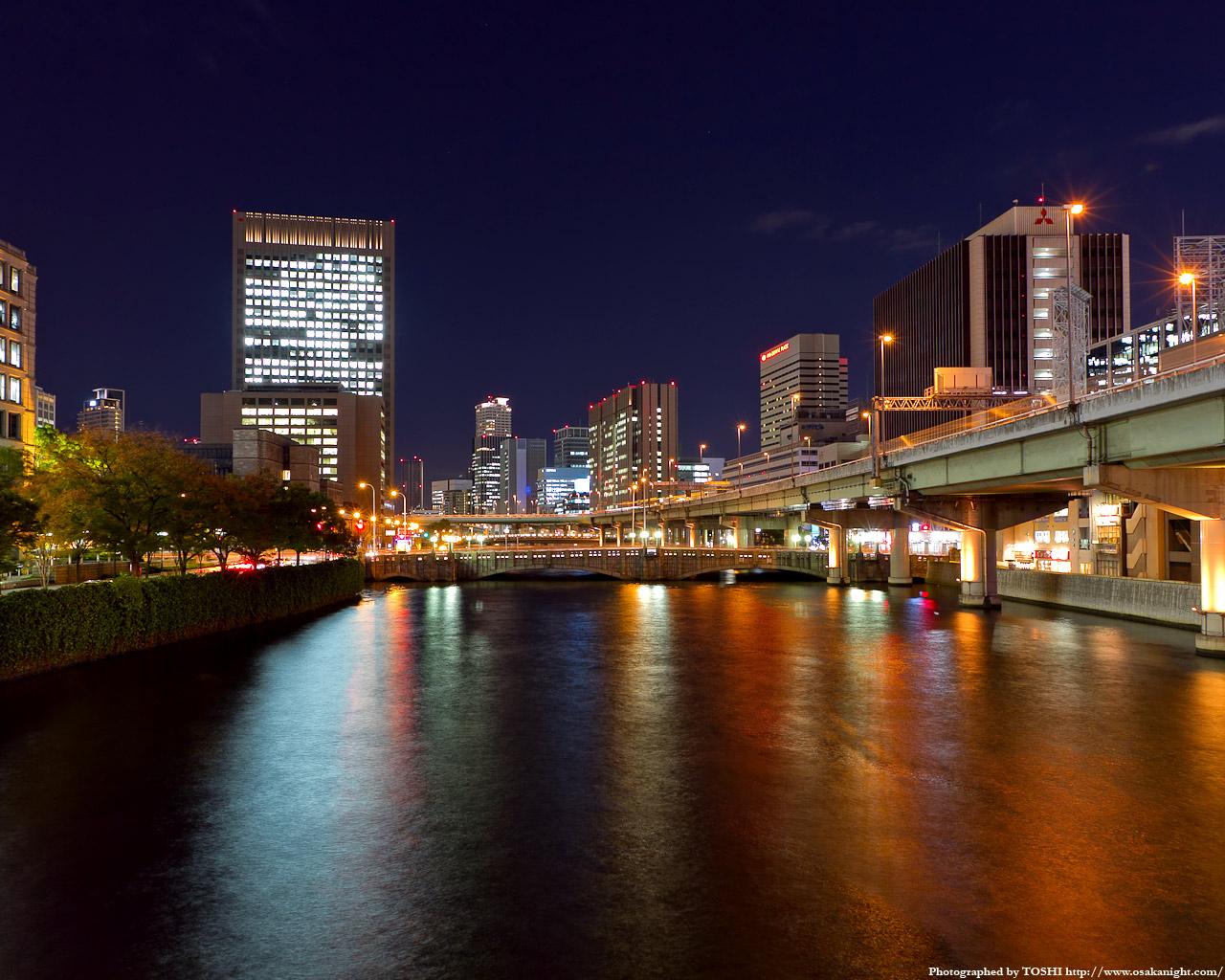 大江橋の夜景1