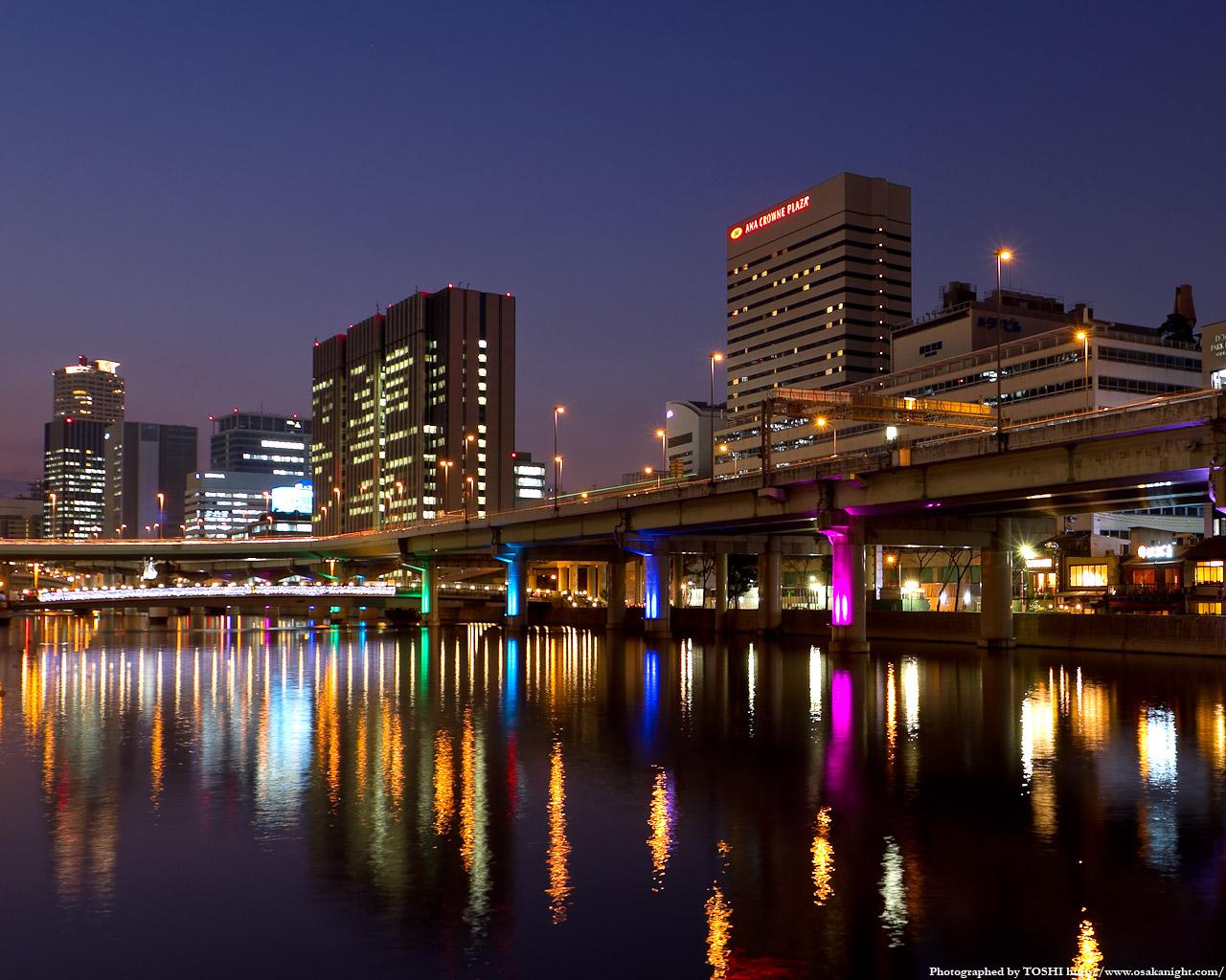 堂島川光の回廊ライトアップ