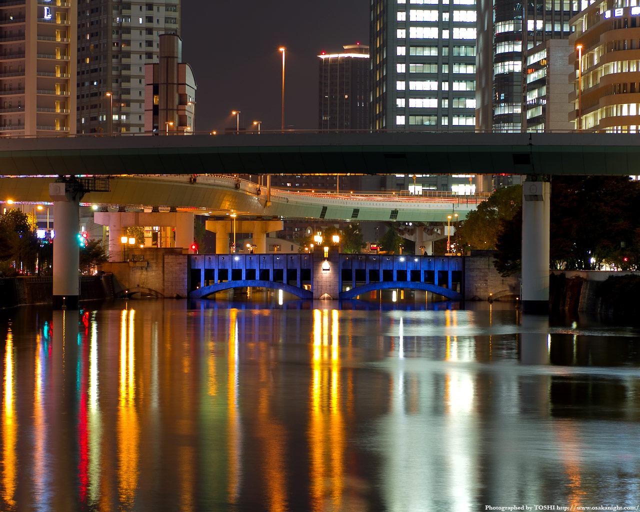 錦橋のライトアップ夜景1