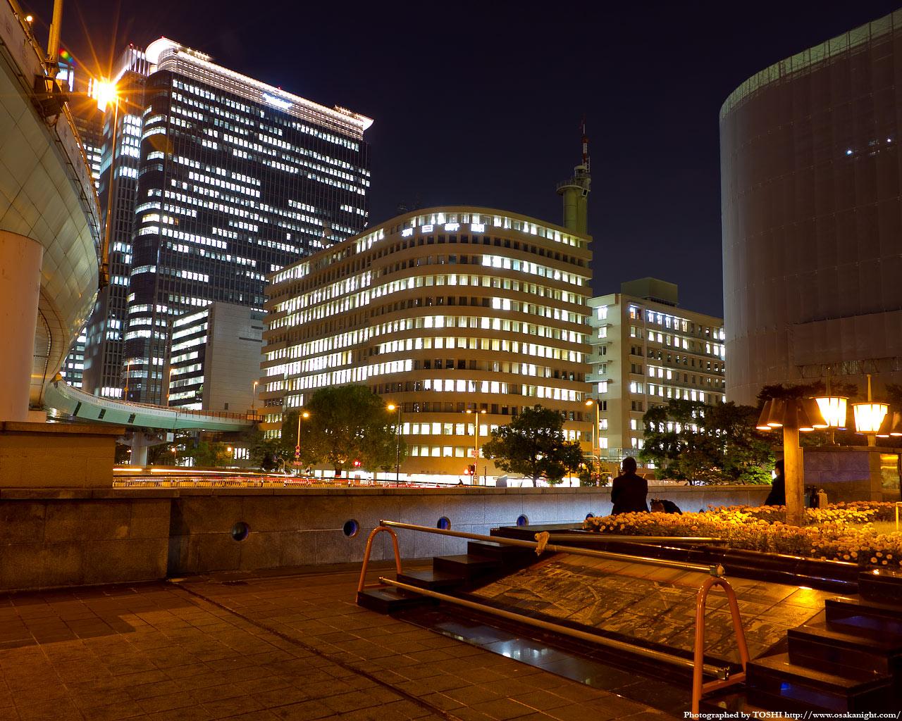 錦橋と朝日新聞ビル夜景