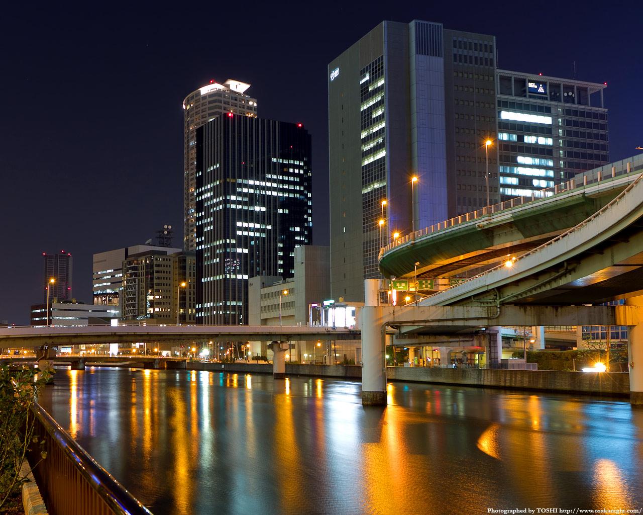 堂島3丁目〜ほたるまち方面の夜景