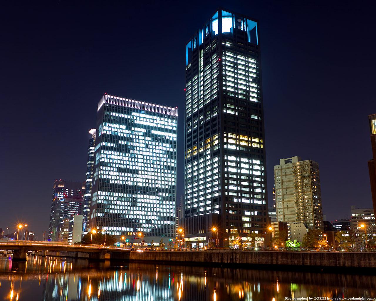 田蓑橋と関電ビルディング夜景