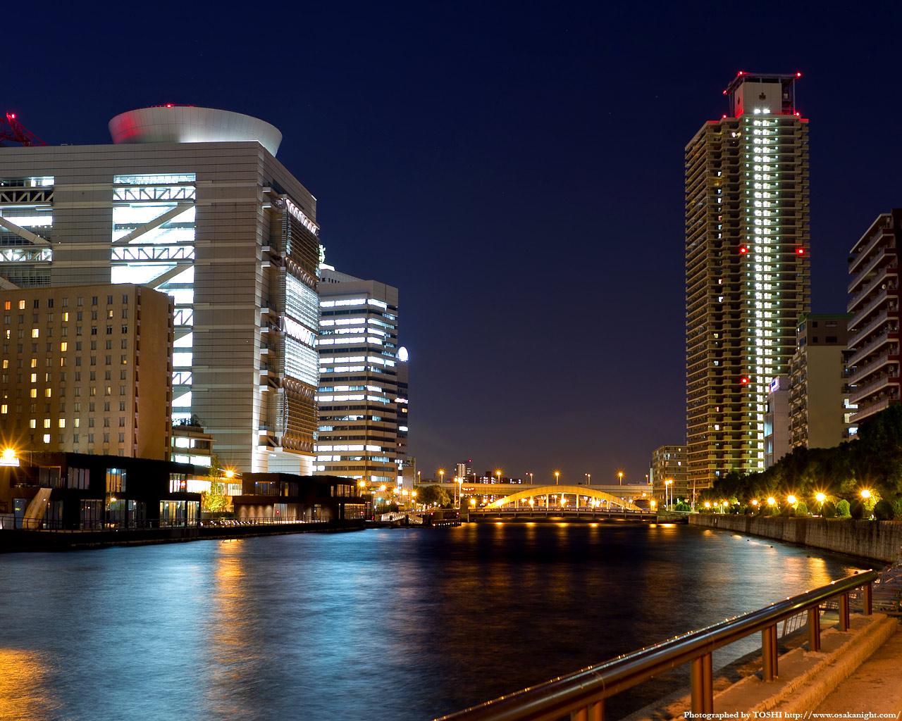 堂島川と大阪国際会議場(グランキューブ大阪)1