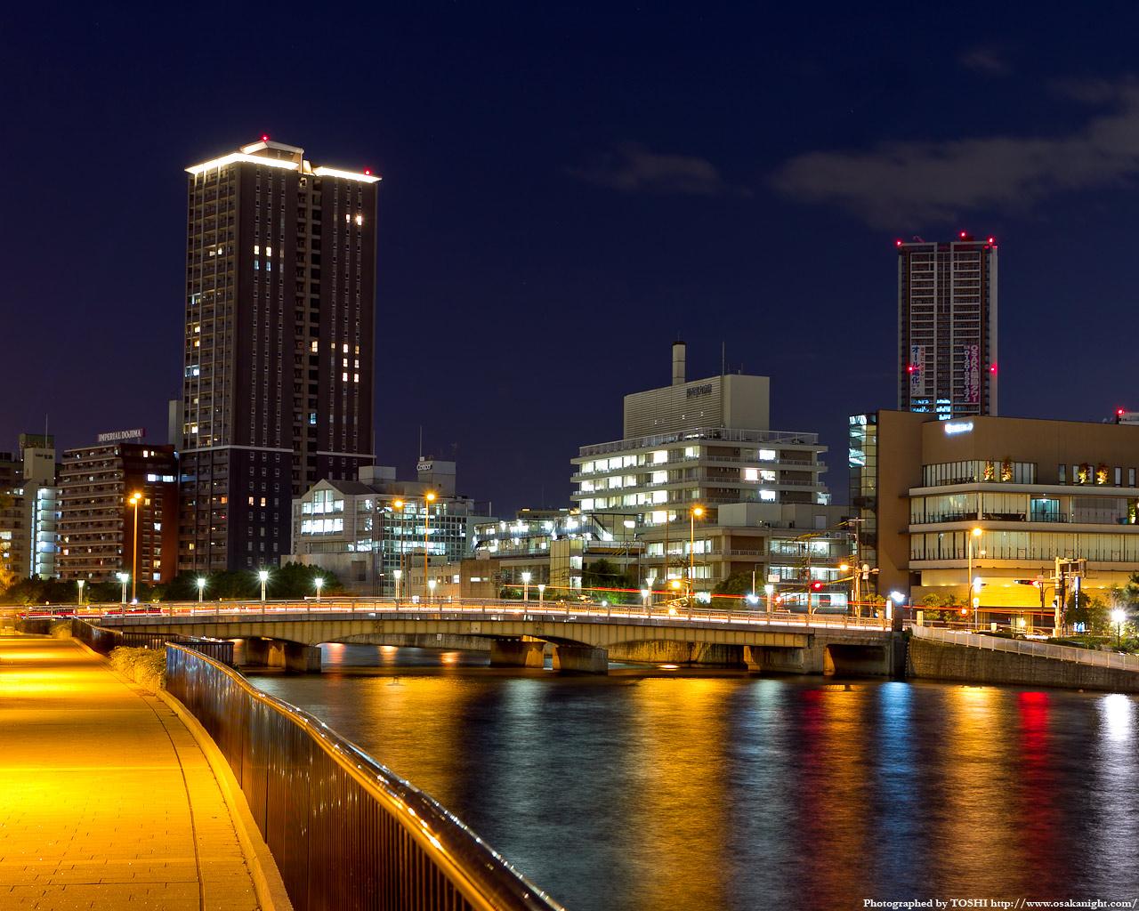 玉江橋と福島3丁目方面の夜景