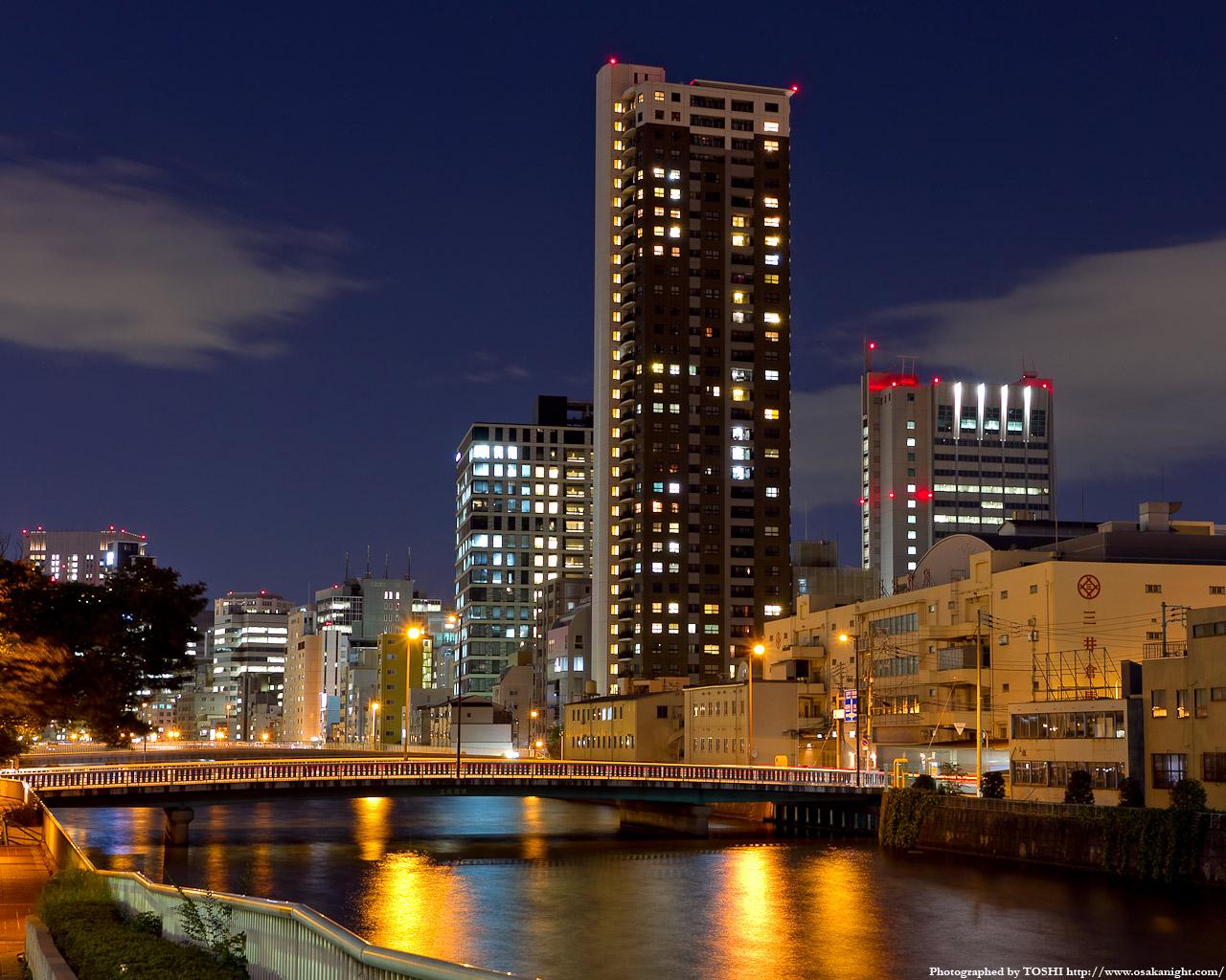 パークタワー大阪中之島フロント夜景