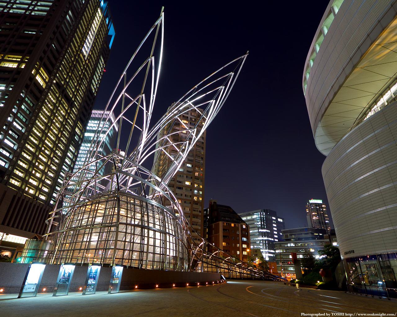 国立国際美術館ライトアップ夜景4