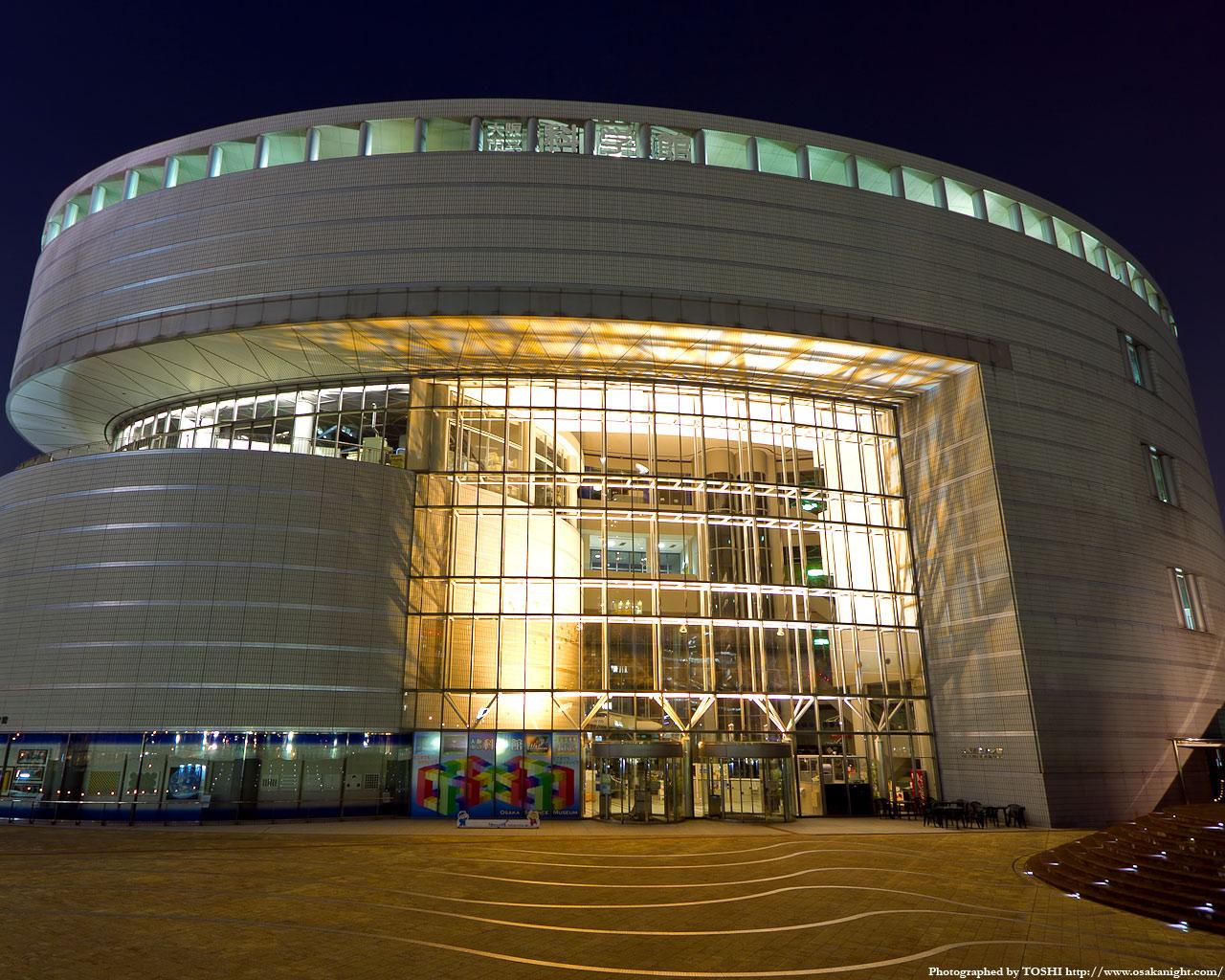 大阪市立科学館夜景