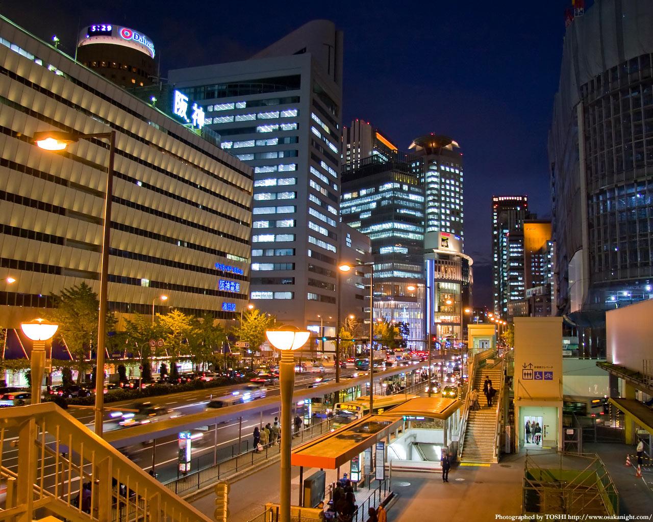 JR大阪駅前夜景1
