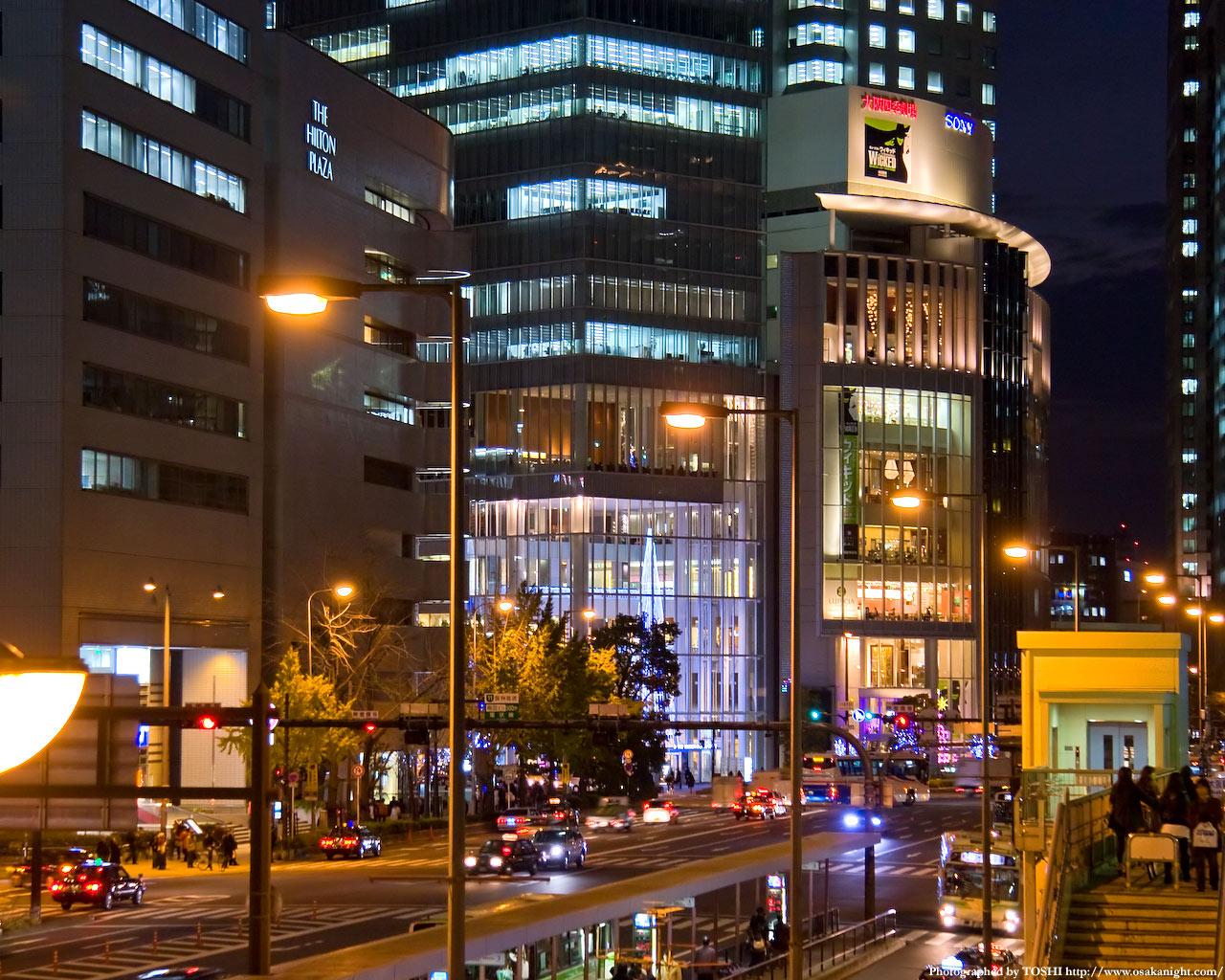JR大阪駅前夜景2