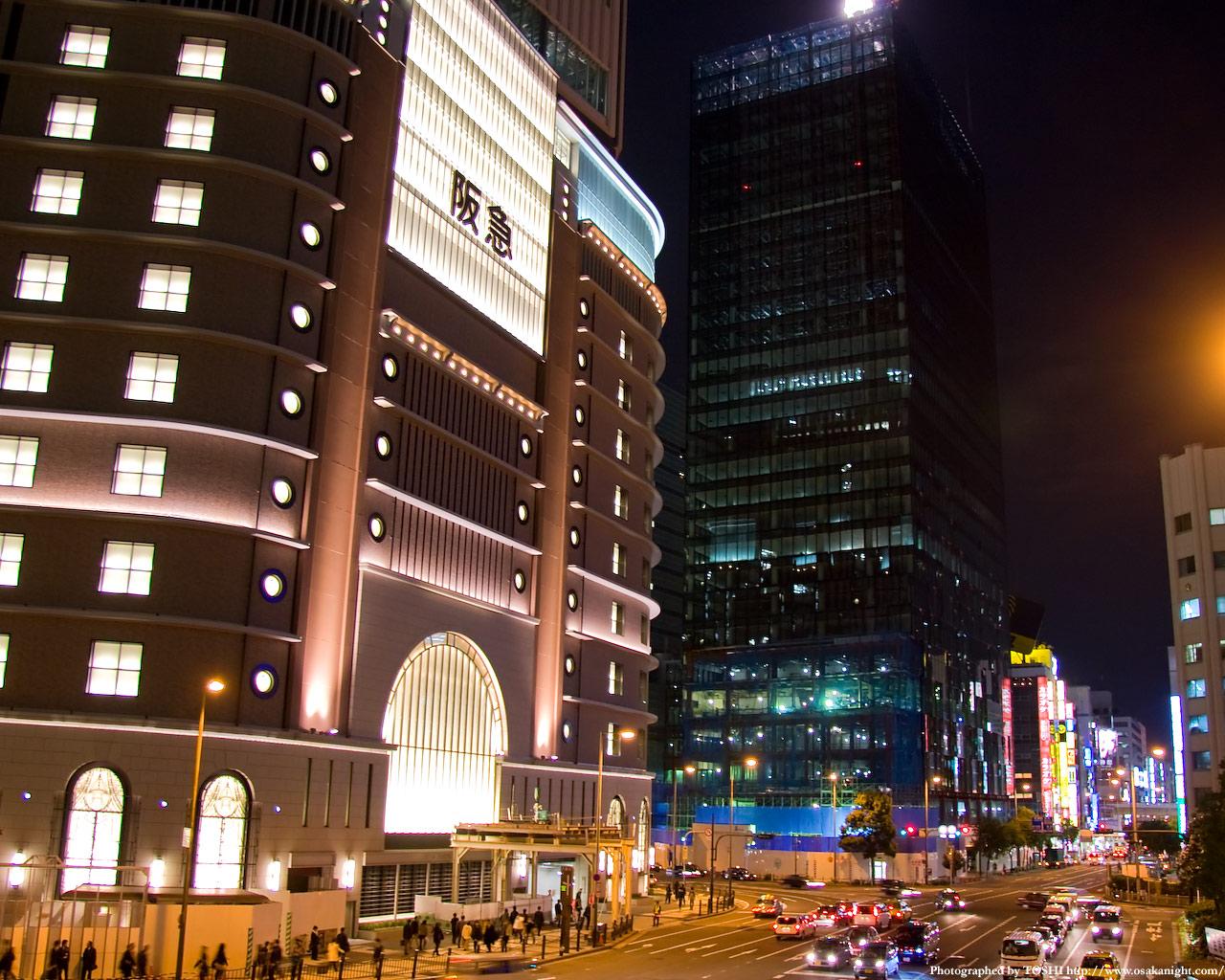 阪急百貨店と大阪富国生命ビル
