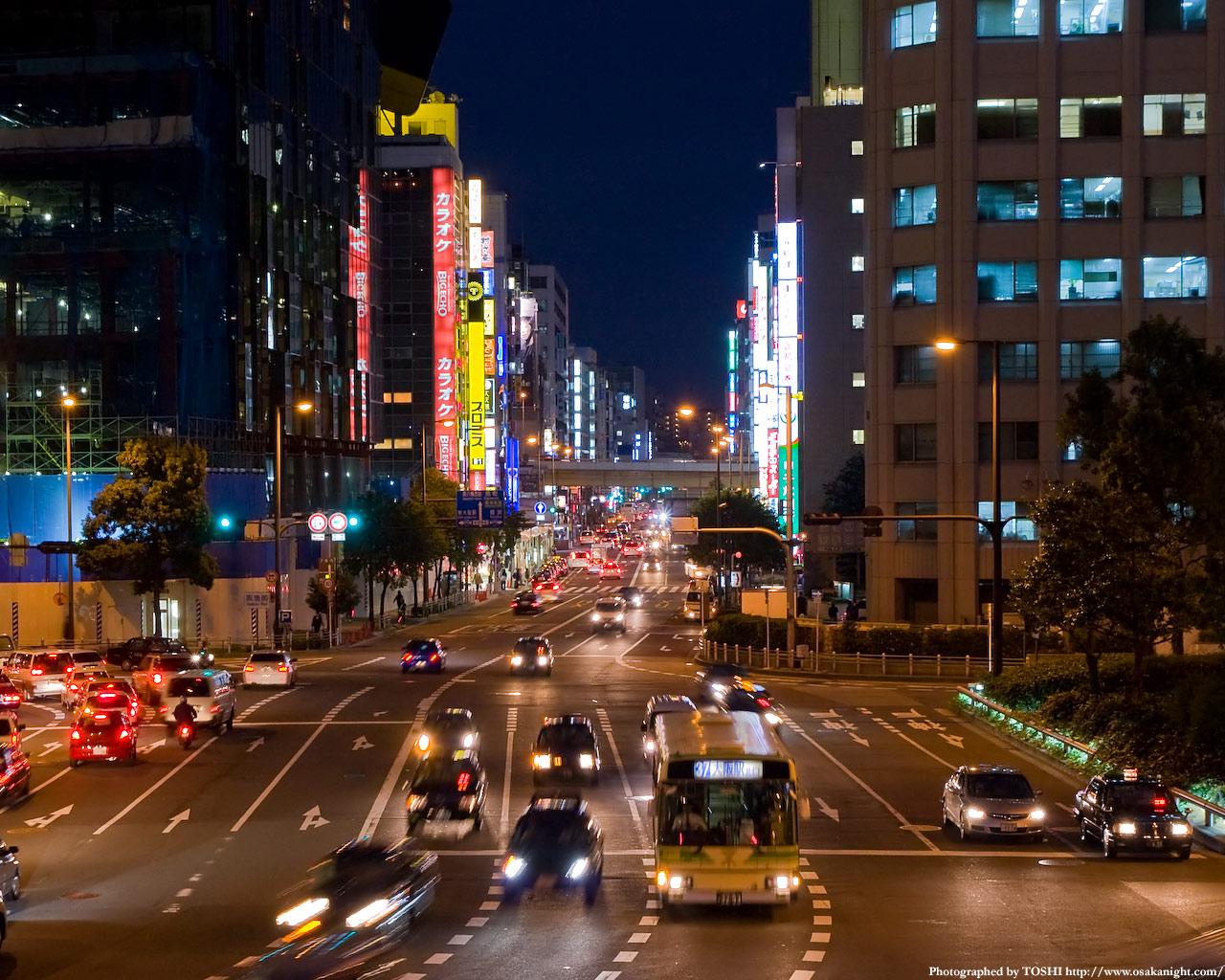 阪急阪神前交差点扇町通り方面