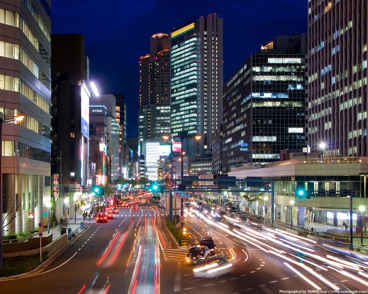 梅田新道交差点の夜景2