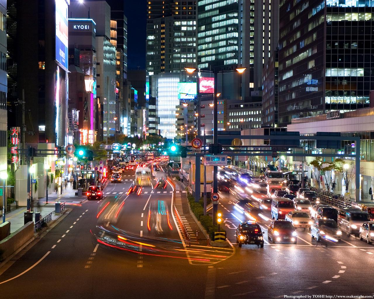 梅田新道交差点の夜景3