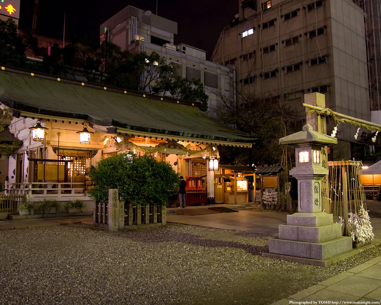 お初天神(露天神社)夜景2