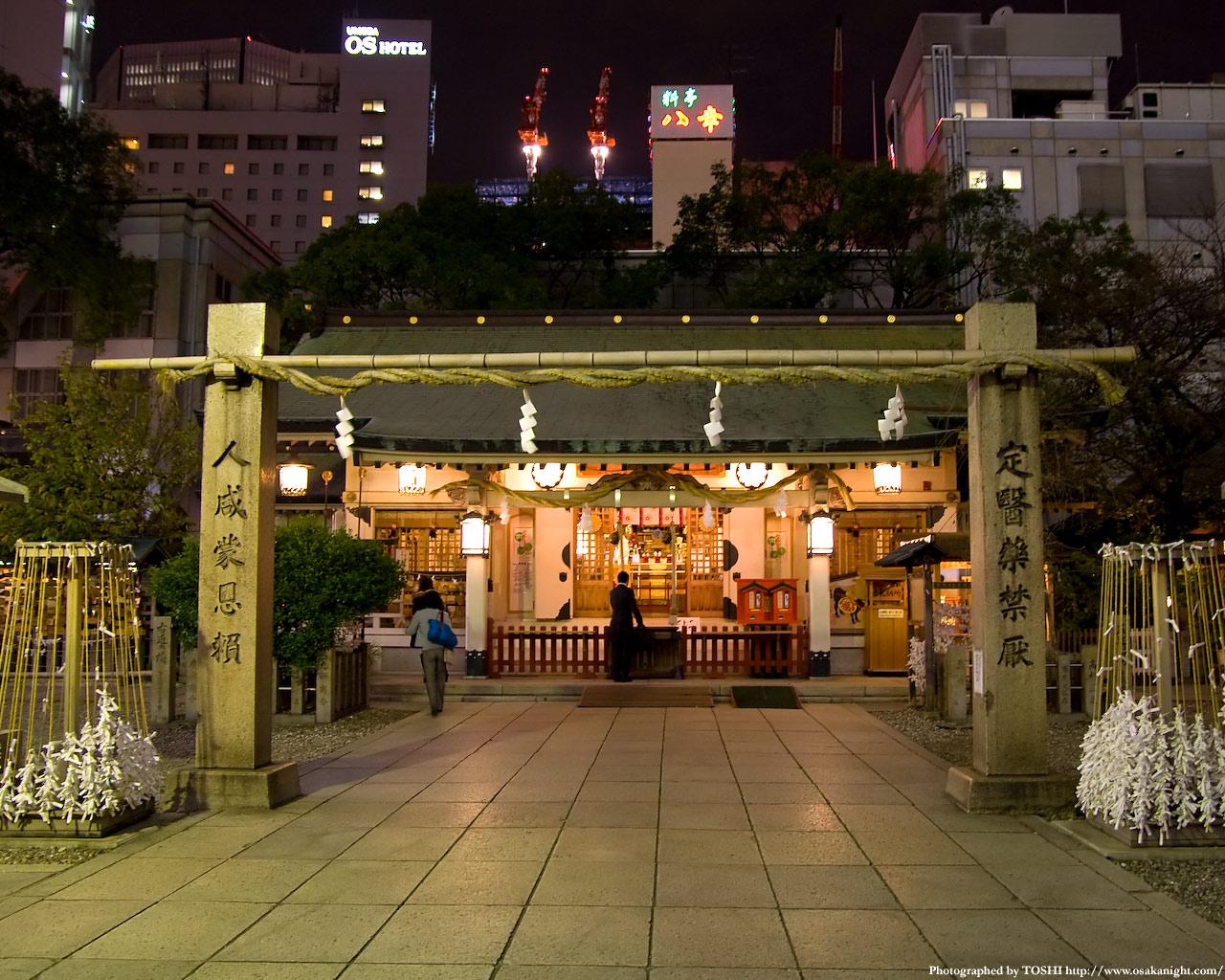 お初天神(露天神社)夜景3