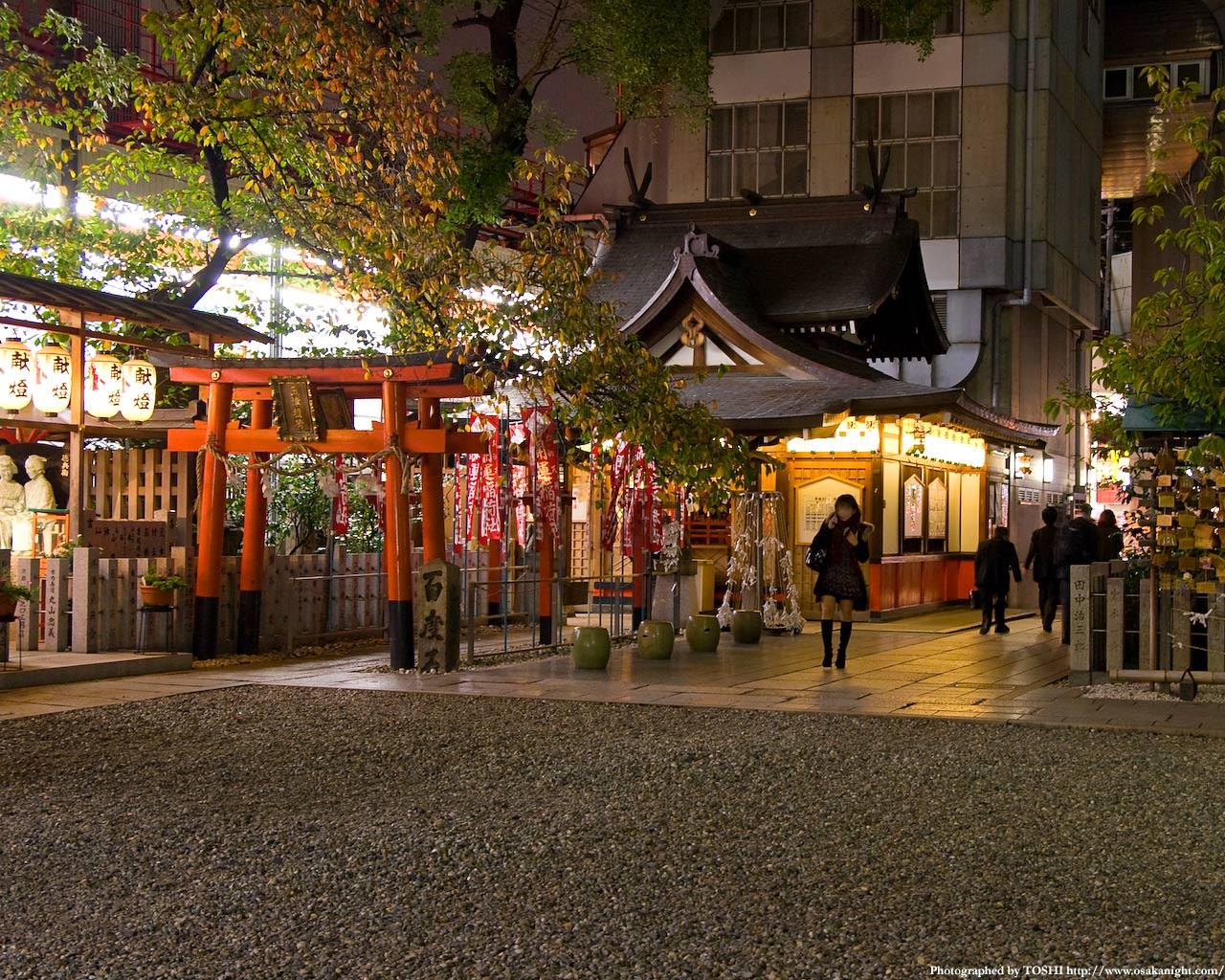 お初天神(露天神社)夜景4