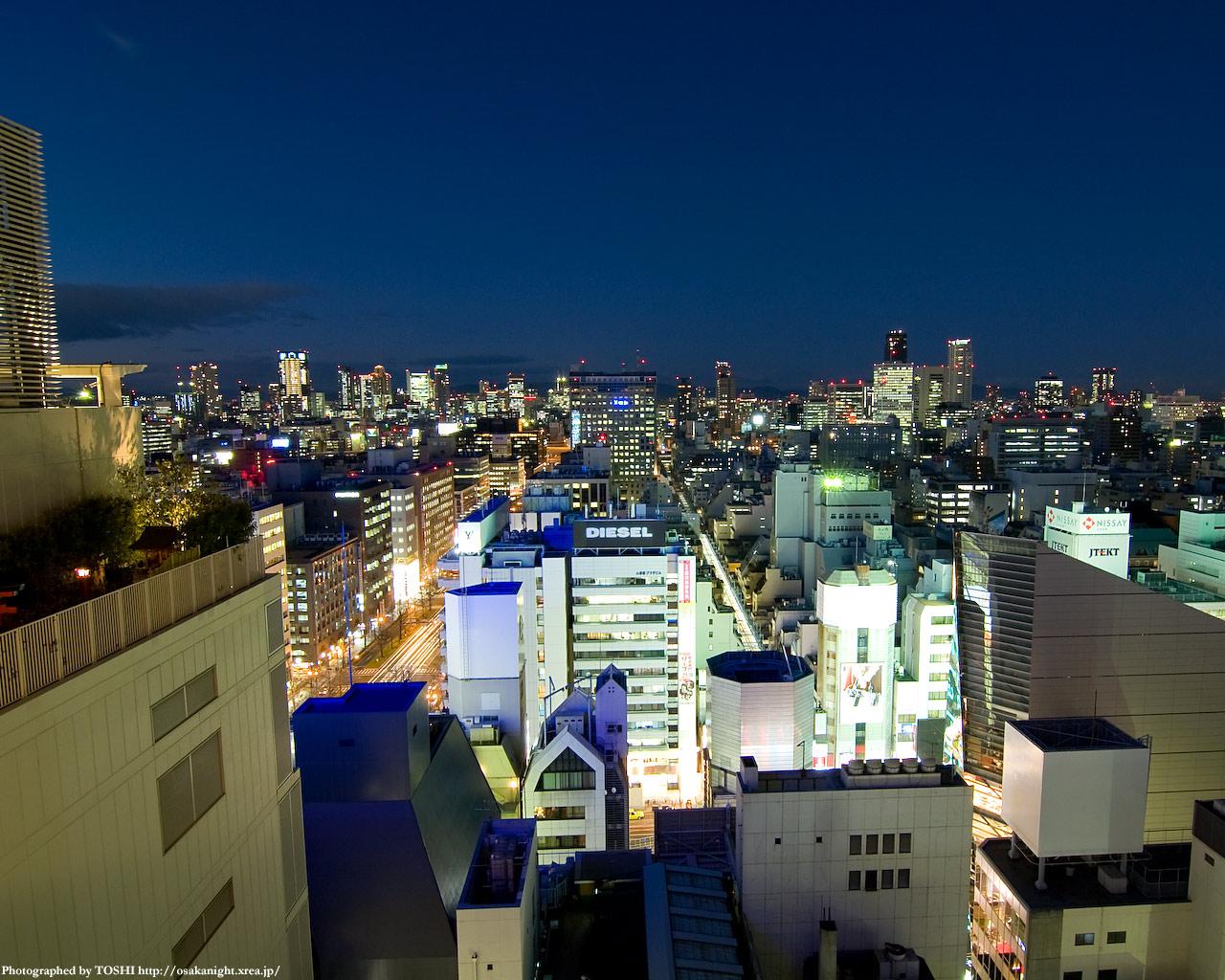 梅田方面の夜景1