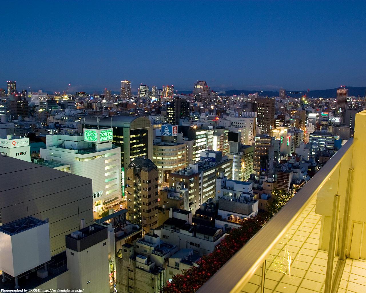京橋・谷町方面の夜景