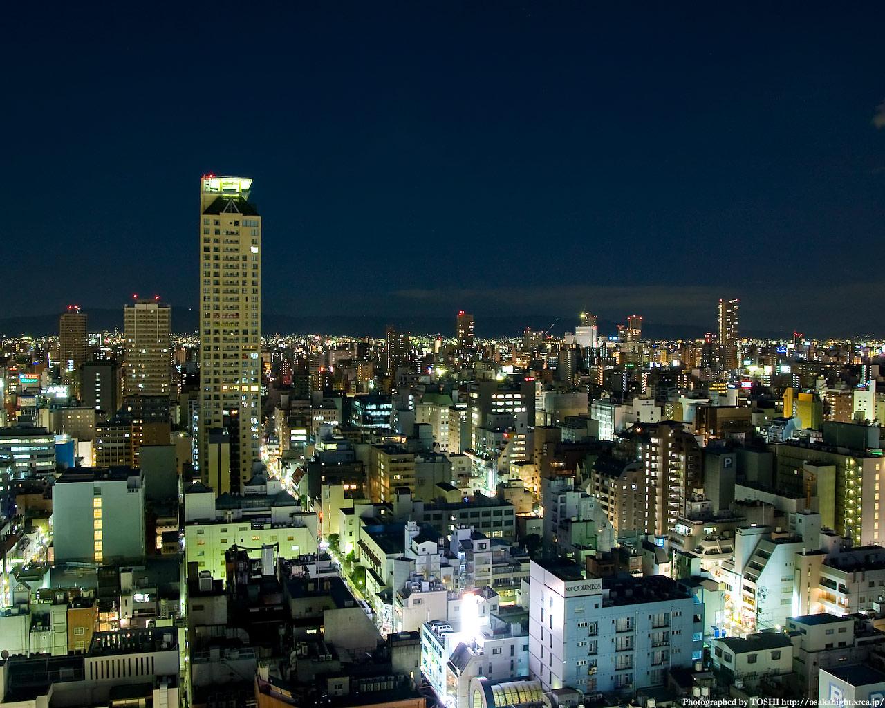 東方向(上本町方面)の夜景