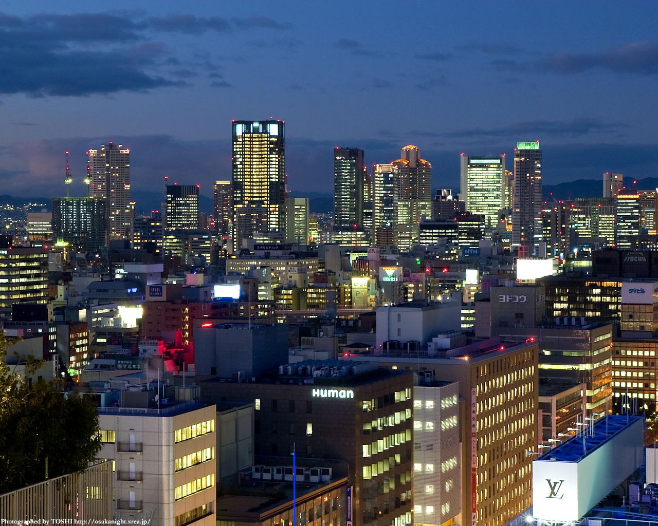 梅田・中之島の高層ビル群1