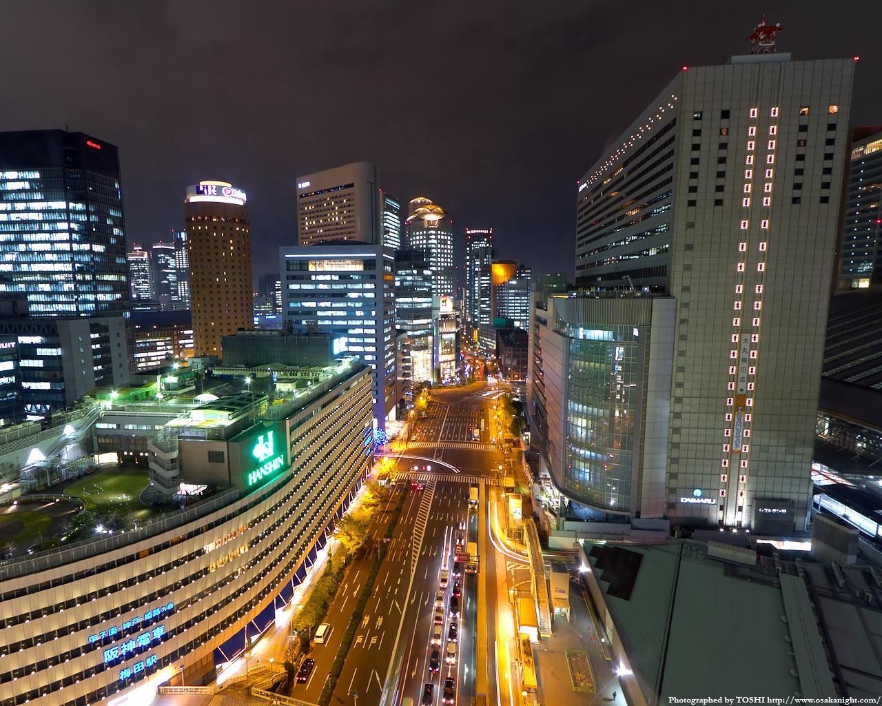 JR大阪駅〜西梅田方面の夜景1